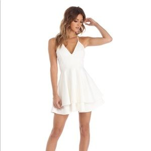 ivory homecoming dress